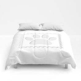 Dog Paw Print Cut Out Comforters