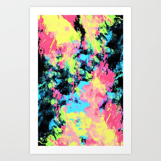 Blacklight Neon Swirl Art Print
