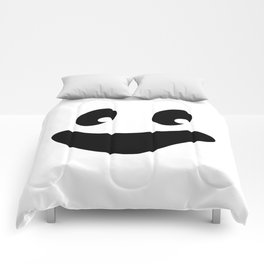 Vintage Retro Halloween Trick Or Treat Ghost Face Comforters