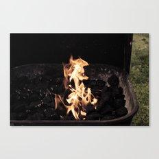 Seahorse Flame Canvas Print