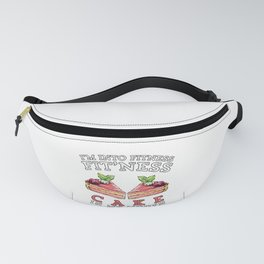 Funny Fitness Dessert Cake Exercise Workout Gift Fanny Pack
