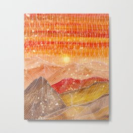 Lines in the mountains XXIV Metal Print
