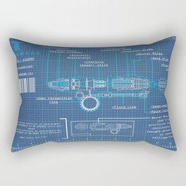 Riversong Screwdriver Blueprint Rectangular Pillow