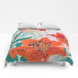 Orange Lily Comforters