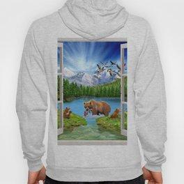 Window to the Great Bear Wilderness Hoody