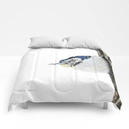 Cutie Pie the Nuthatch by Teresa Thompson Comforters