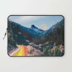 1960's Style Mountain Collage Laptop Sleeve