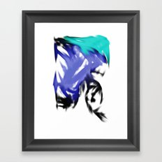 orgasmic girl  Framed Art Print