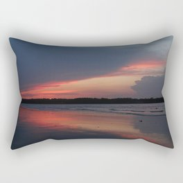Sunset on the waterway Rectangular Pillow