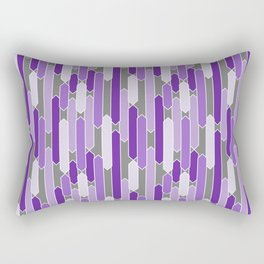Modern Tabs in Purple and Lavender on Gray Rectangular Pillow