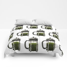 French Press - Olive Green Comforters