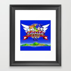Sonic and Tails Framed Art Print