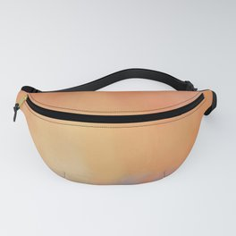 Abstract Landscape With Golden Lines Painting Fanny Pack