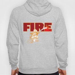 Firefighter Fire Hose Engine Station Brigade Gift Hoody