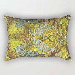 Lush yellows & Browns Rectangular Pillow