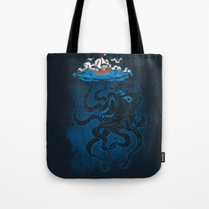 Here There Be Monster Tote Bag