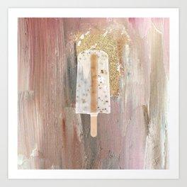 Gold Popsicle Art Print