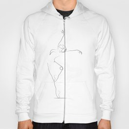 'Unfurl', Dancer Line Drawing Hoody