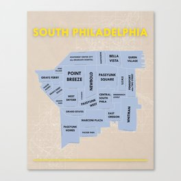 South Philadelphia Version 3 Canvas Print