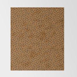 Dark leopard animal print Throw Blanket