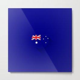 Minimal Australian Flag Metal Print