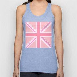 Pink Union Jack/Flag Design Unisex Tank Top