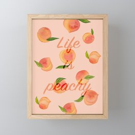 Life is peachy print Framed Mini Art Print
