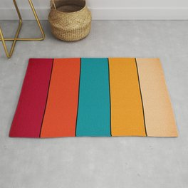 Vintage Retro 80's and 90's Pattern Rug