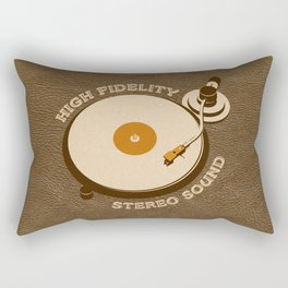 Retro DJ's Turntable Rectangular Pillow