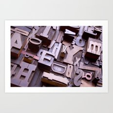3D Letters - Typography Photography™ Art Print
