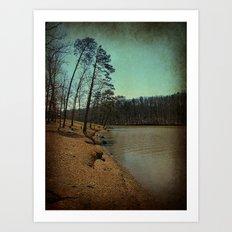 Riverbank Curve Art Print