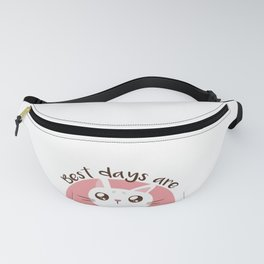 Cute Cat design For Cat Mamas - Cartoon Cat - Caturdays Fanny Pack