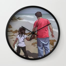 Afternoon at the Beach Wall Clock