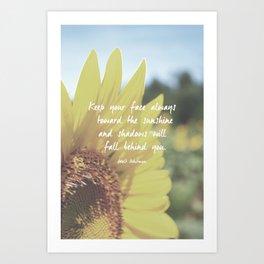 Sunflower Inspiration Print Art Print