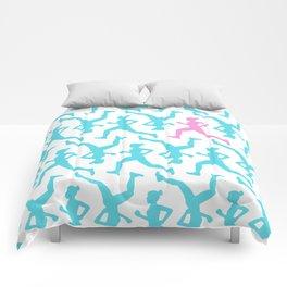 Running Girl Pastel Pattern Comforters
