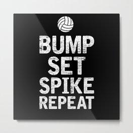 Beach Volleyball Volleyball Athlete Gift Idea Metal Print