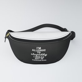Allergic To Stupidity Funny Quote Fanny Pack