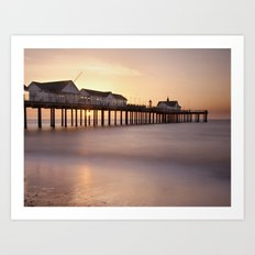 Southwold Pier at Sunrise Art Print