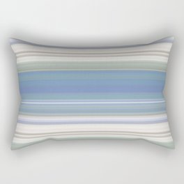 Blue and Neutral Color Stripe Design Rectangular Pillow