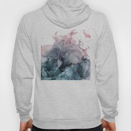 Blush and Payne's Grey Flowing Hoody
