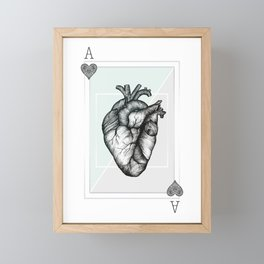 Ace Of Hearts - Mint Framed Mini Art Print