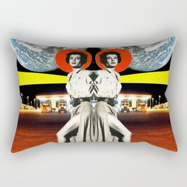 The Earth Was Full That Night, Mirror Image Rectangular Pillow