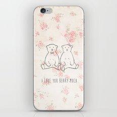 I love you beary much iPhone & iPod Skin