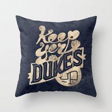 Keep Yer Dukes Up Throw Pillow