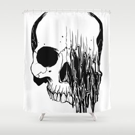 Skull (Distortion) Shower Curtain