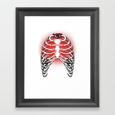 Red Ribs Framed Art Print