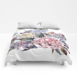 Watercolor Bouquet Comforters