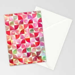 Oh Pink! - textured geometric pattern in candy pinks & mint Stationery Cards