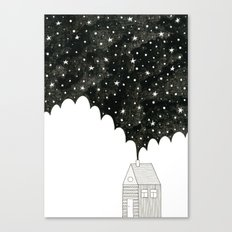 House in the Night Canvas Print