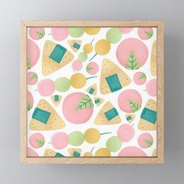 Japanese Snacks Framed Mini Art Print